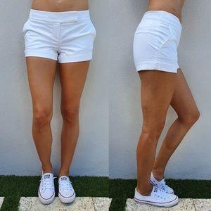 Bebe White Dress Shorts